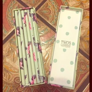 💞 shabby Chic Twos Company floral pencil case